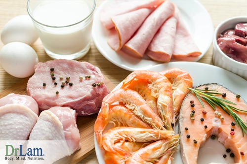 Eating animal proteins and strontium for osteoporosis
