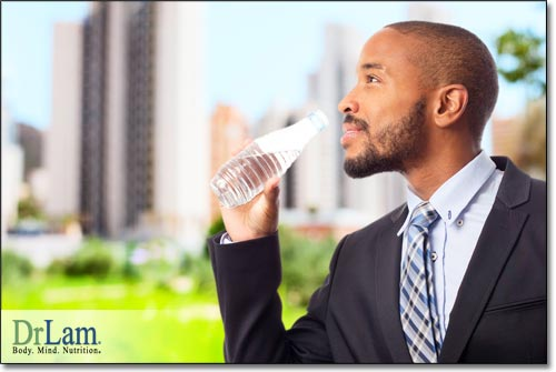 Drinking water adequately is important to combat bad breath