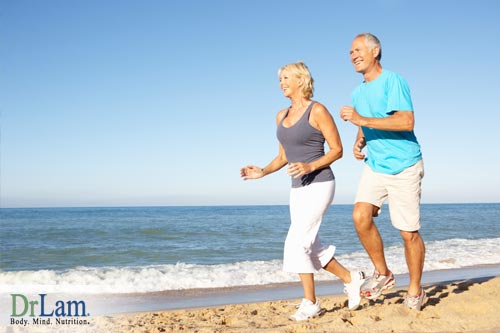 Benefits from jogging include going outdoors with loved ones