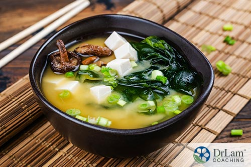 An image of a bowl containing sea vegetable soup