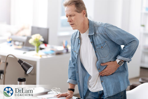 An image of a man suffering from bile acid and adrenal fatigue