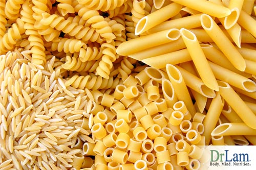 Foods rich in carbs such as pasta and rice contain many extra calories and can cause extreme fatigue after lunch