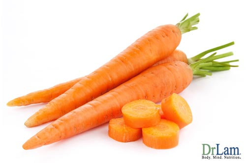 Carrots and cancer prevention vitamins
