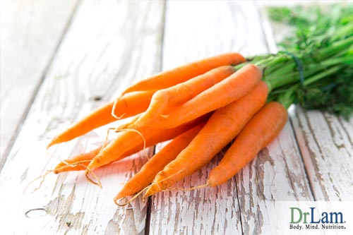 Carrots and the daily vitamin requirements