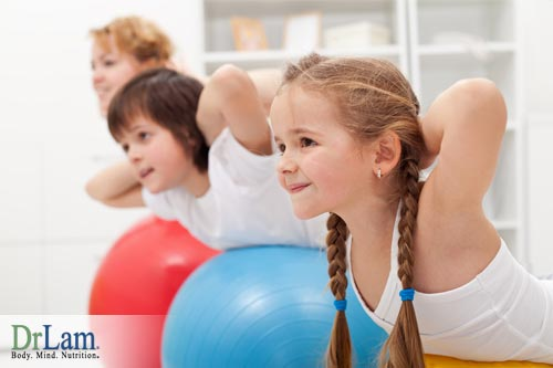 Child stress can be alleviated with stress relief exercises