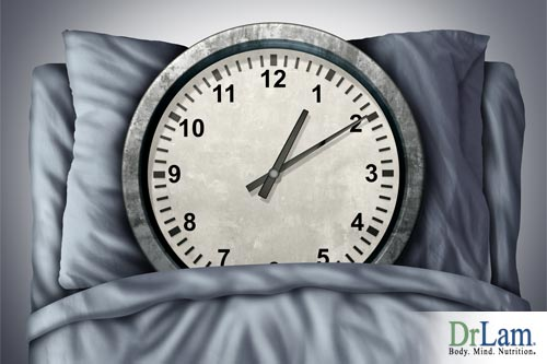 Bed time and circadian rhythm disorder