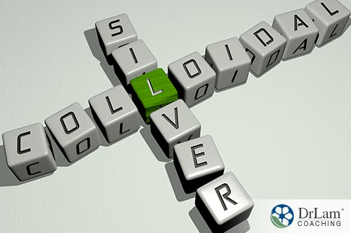 An image of gaming letters arranged to spell colloidal silver