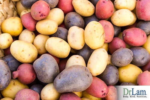 Colored potatoes for your health