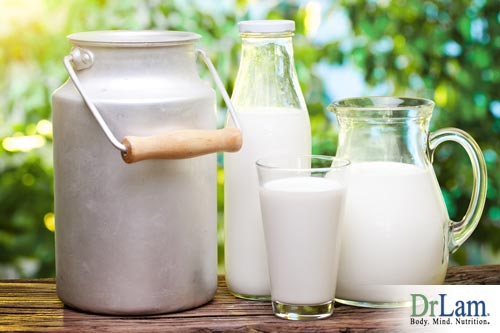 Cow's milk and strontium for osteoporosis