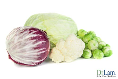 Picture of cabbage, brussels sprouts and cauliflower, cruciferous foods that can worsen autoimmune hypothyroidism