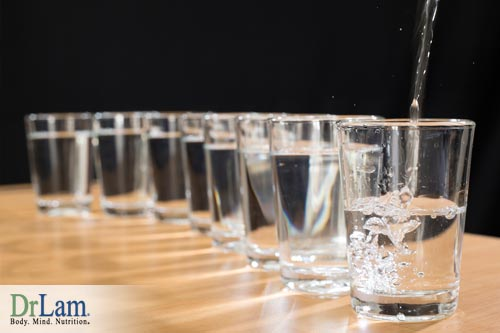 Drink 8 glasses a day to avoid early signs of dehydration