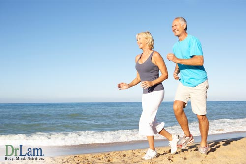 Health benefits for older people being active