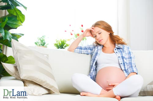 Fatigue during pregnancy and reproductive system function