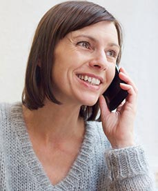 A woman on a free consultation