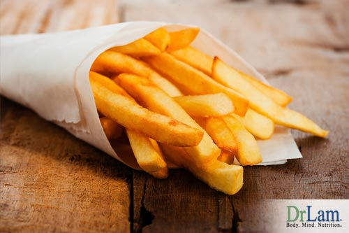 What is acrylamide and what are the effects of french fries that contain it?