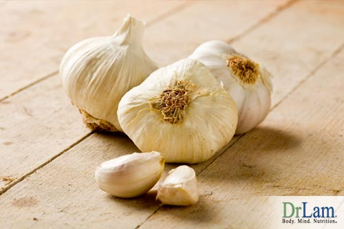 Garlic Health Benefits include help with cold and flu.