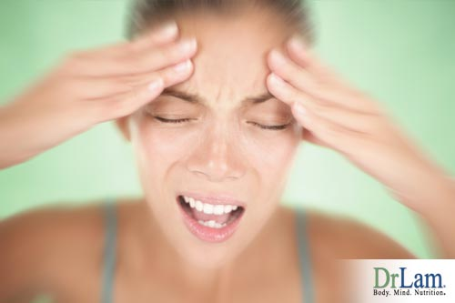 Headaches are from the withdrawal of stimulants effects