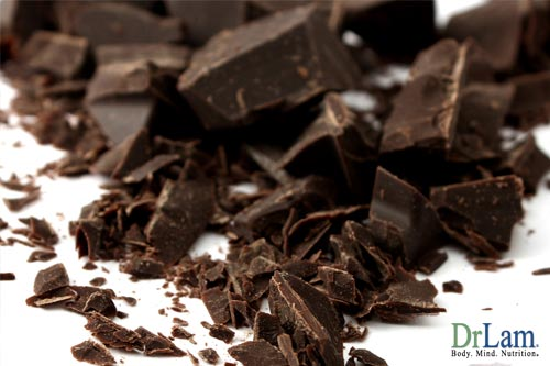How dark chocolate is good for you and may help curb the symptoms of the stages of adrenal fatigue remember this study was done with chocolate containing 60% cacao