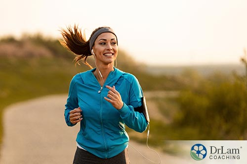 An image of a woman jogging ouside