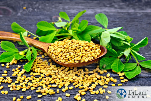 An image of fenugreek in its natural form