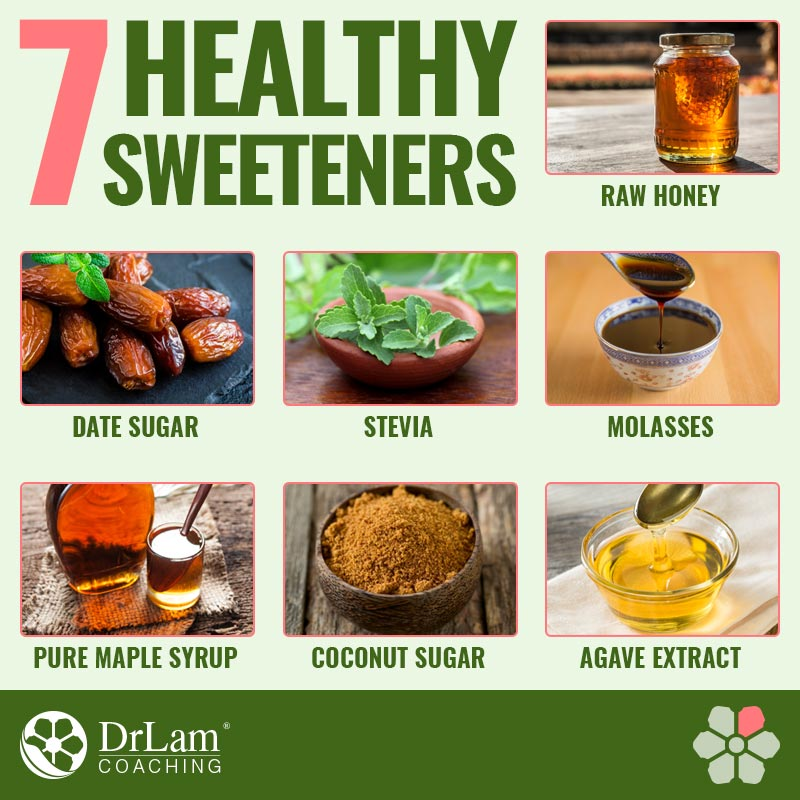 Check out this easy to understand infographic about 7 healthy sweeteners
