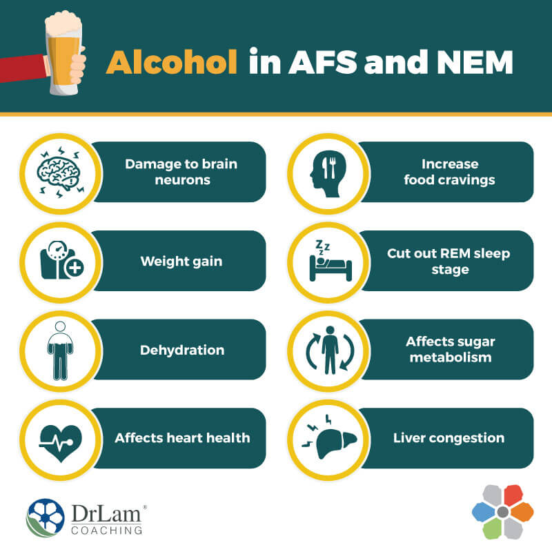 Check out this easy to understand infographic about alcohol and adrenal fatigue