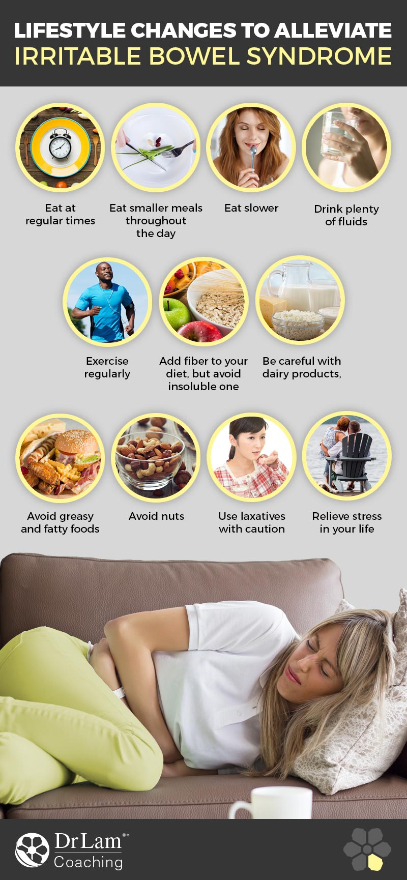 Check out this easy to understand infographic about alleviating IBS with lifestyle changes