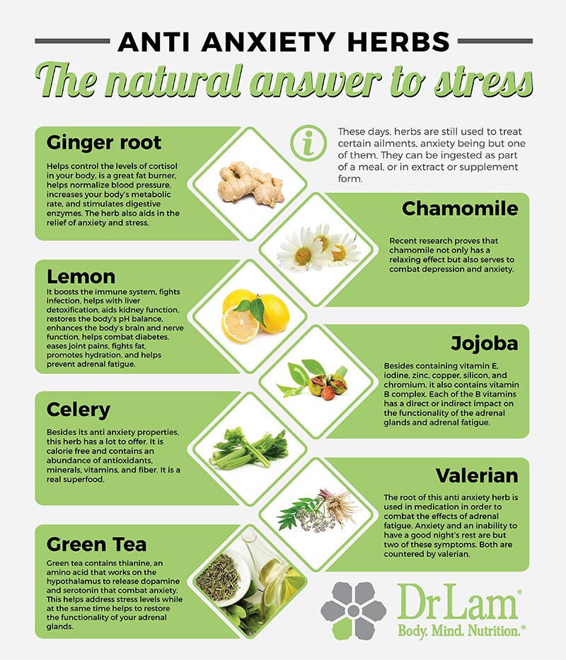 Check out this easy to understand infographic about anti anxiety herbs