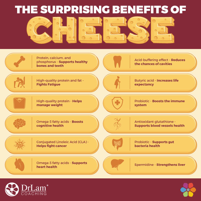 Check out this easy to understand infographic about the surprising benefits of cheese