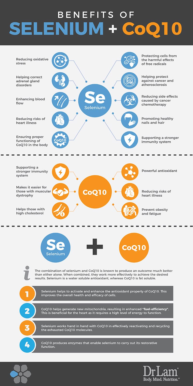 Check out this easy to understand infographic about the benefits of Selenium and CoQ10