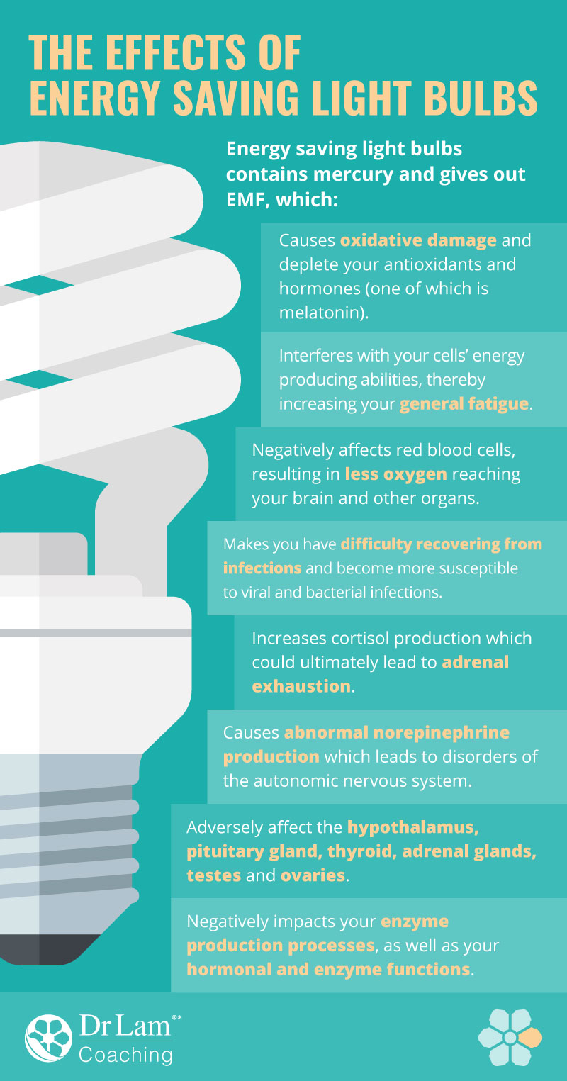 Check out this easy to understand infographic about the effects of energy saving light bulbs