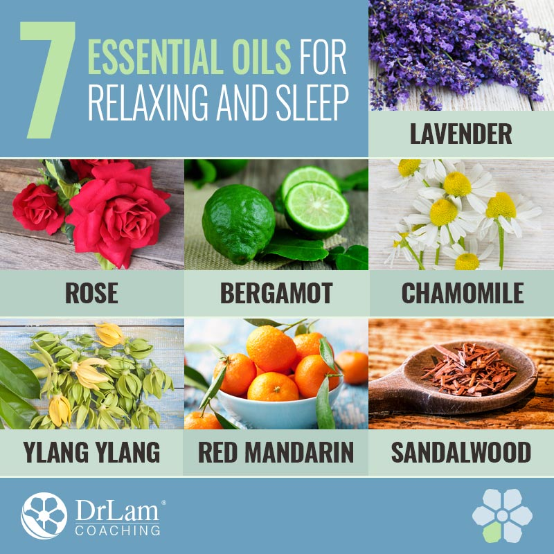 Check out this easy to understand infographic about essential oils for relaxing and sleep