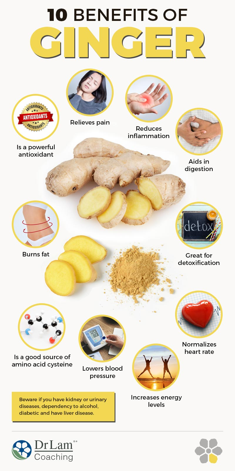 Check out this easy to understand infographic about 10 benefits of ginger