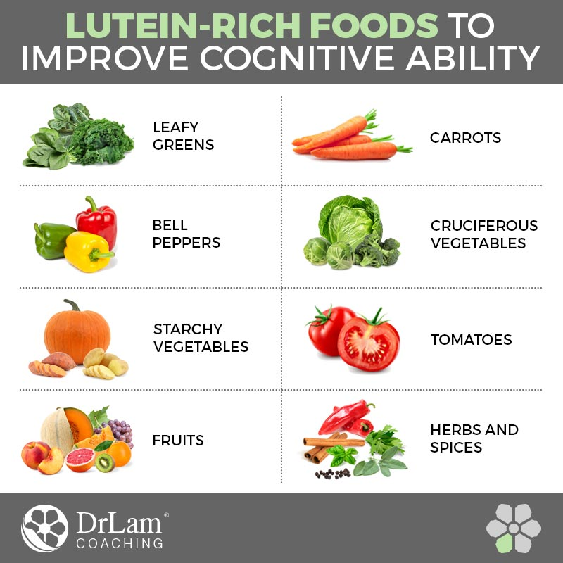 Check out this easy to understand infographic about lutein-rich foods to improve cognitive ability