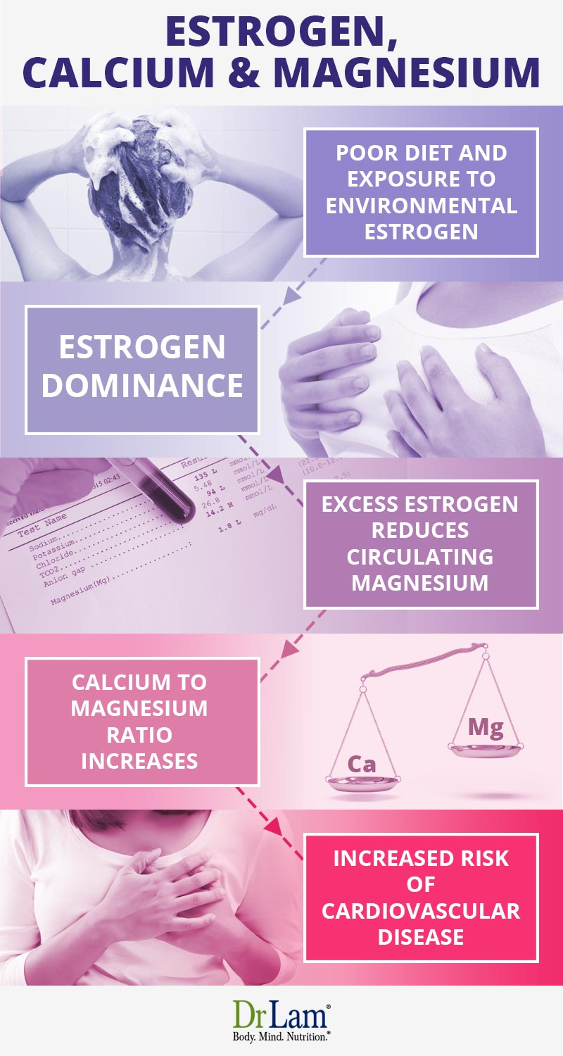 Check out this easy to understand infographic about magnesium, estrogen and calcium