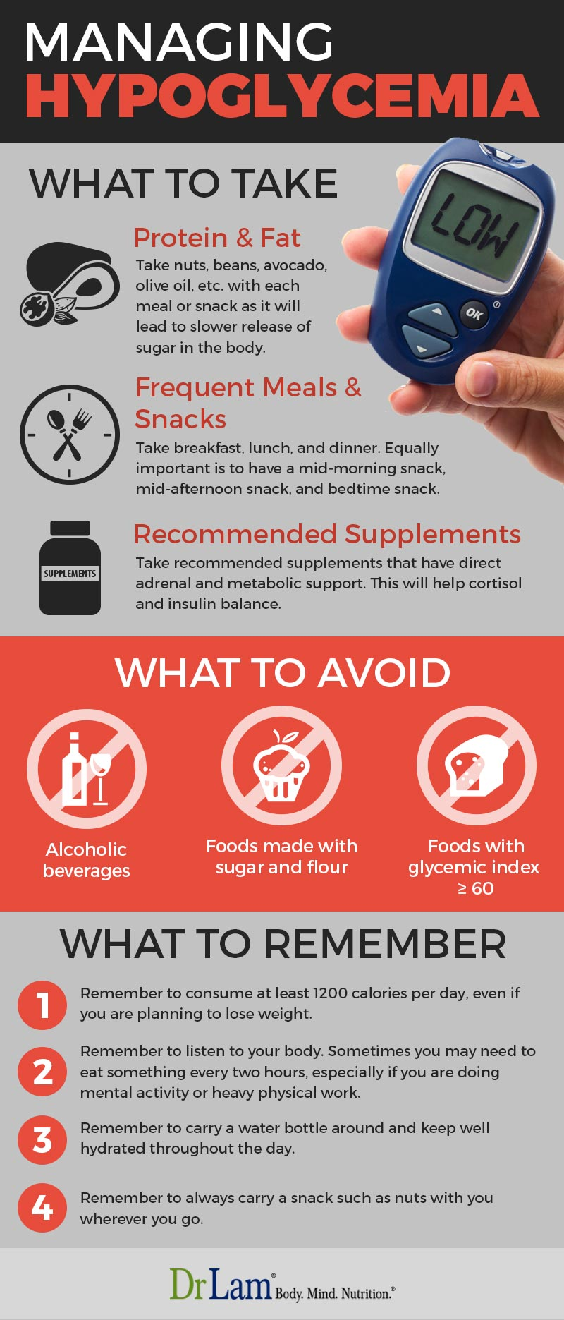 Check out this easy to understand infographic about how to manage a hypoglycemia meal plan