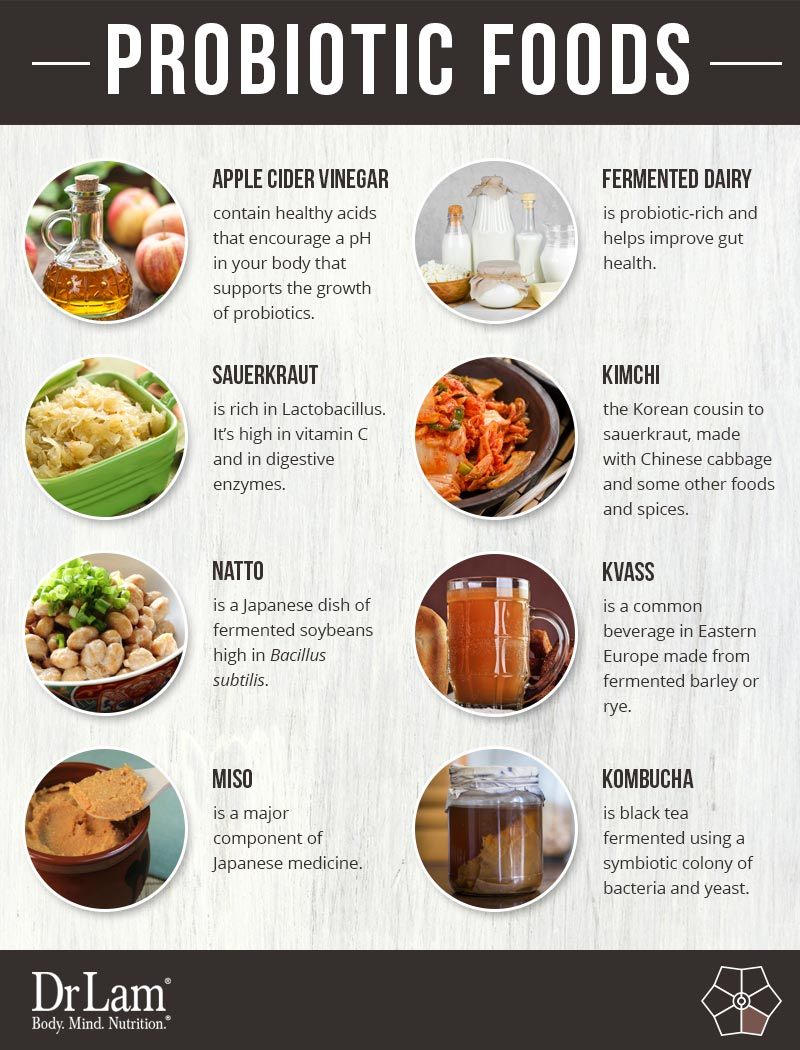 Check out this easy to understand infographic about various probiotic foods