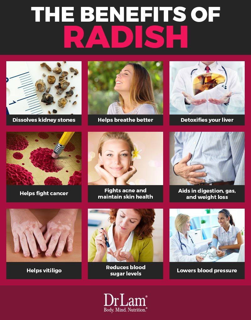 Check out this easy to understand infographic about the benefits of radish