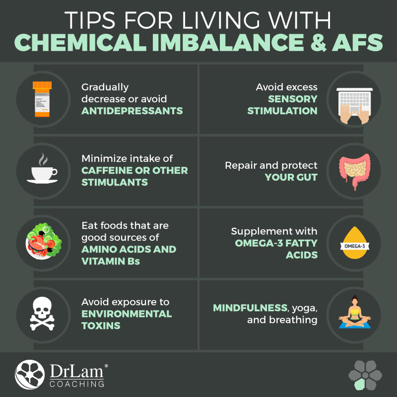 Check out this easy to understand infographic about the tips for Living with Chemical Imbalance
