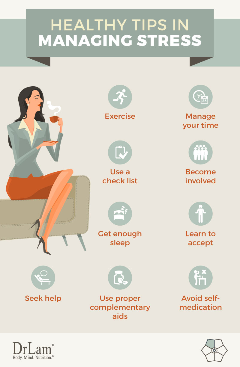 Check out this easy to understand infographic about the healthy tips in managing stress
