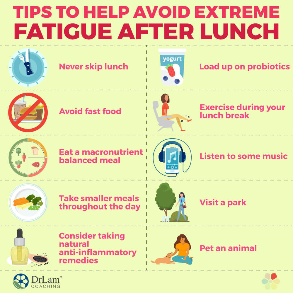 Tips to Help Avoid Extreme Fatigue After Lunch