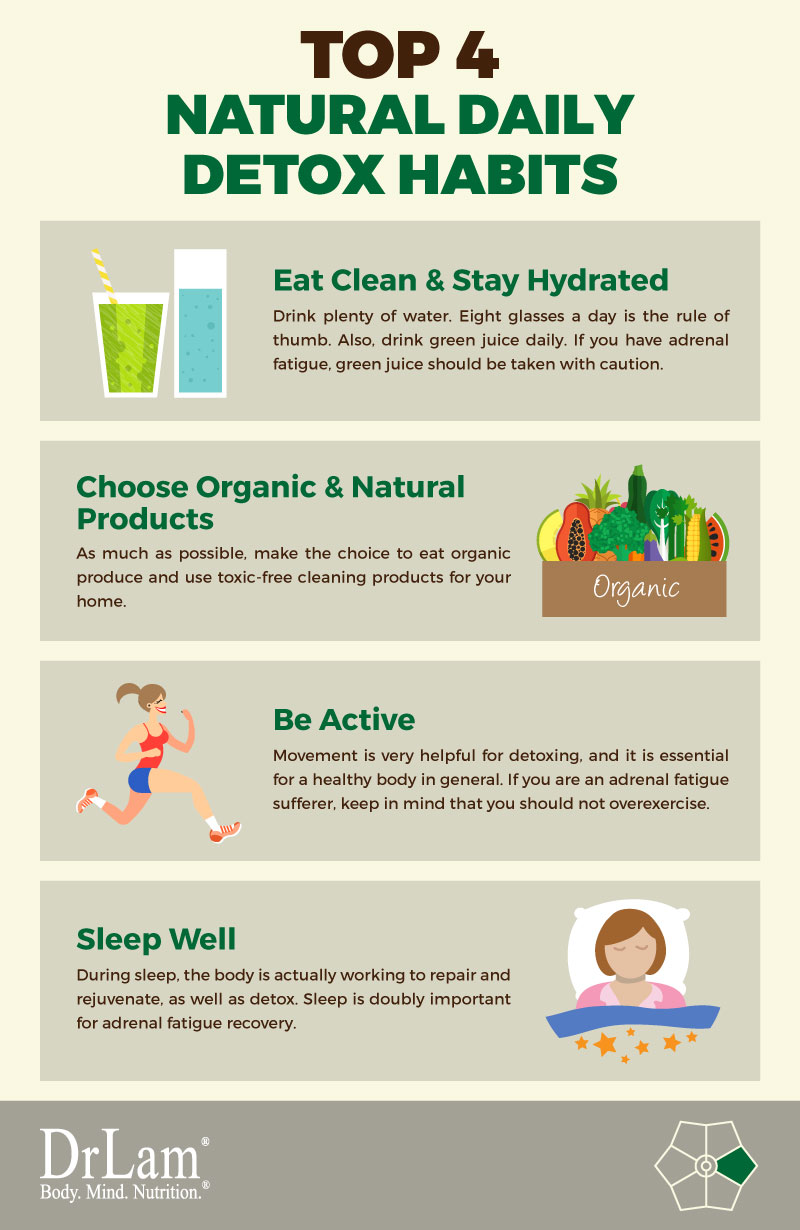 Check out this easy to understand infographic about top 4 natural daily detox habits