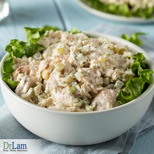 Creamy chicken salad for your overall health