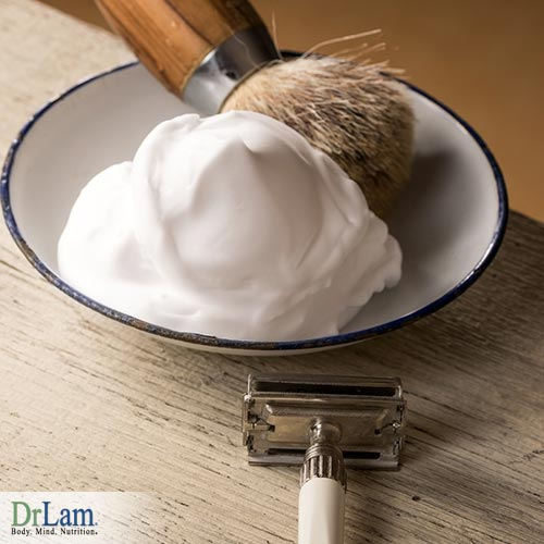 A homemade shaving cream free of the added chemicals over the counter creams include.