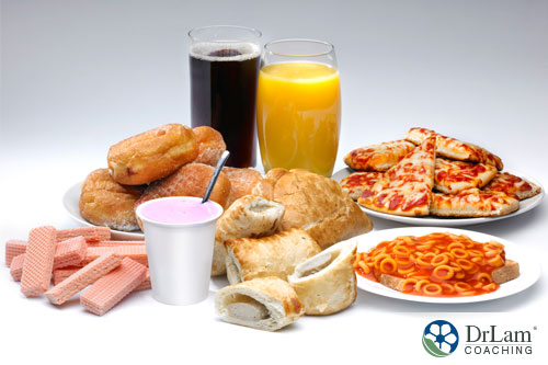 An image of sugary processed foods