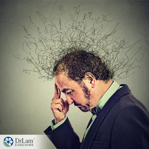 An image of a stressed man
