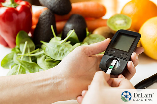 An image of someone checking their blood sugar level