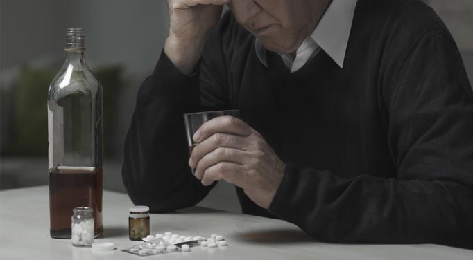 Drug and alcohol abuse by the elderly