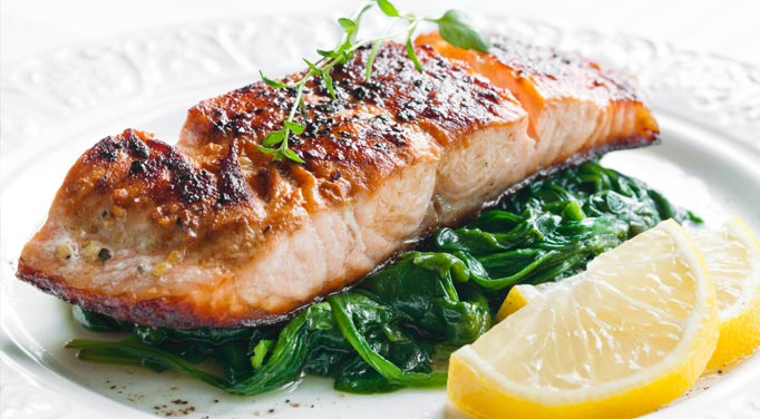 The result of the this baked salmon dish