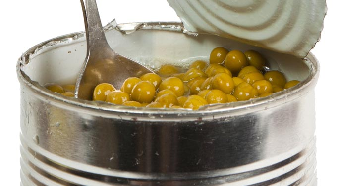 Canned foods can contain Botulism Poisoning